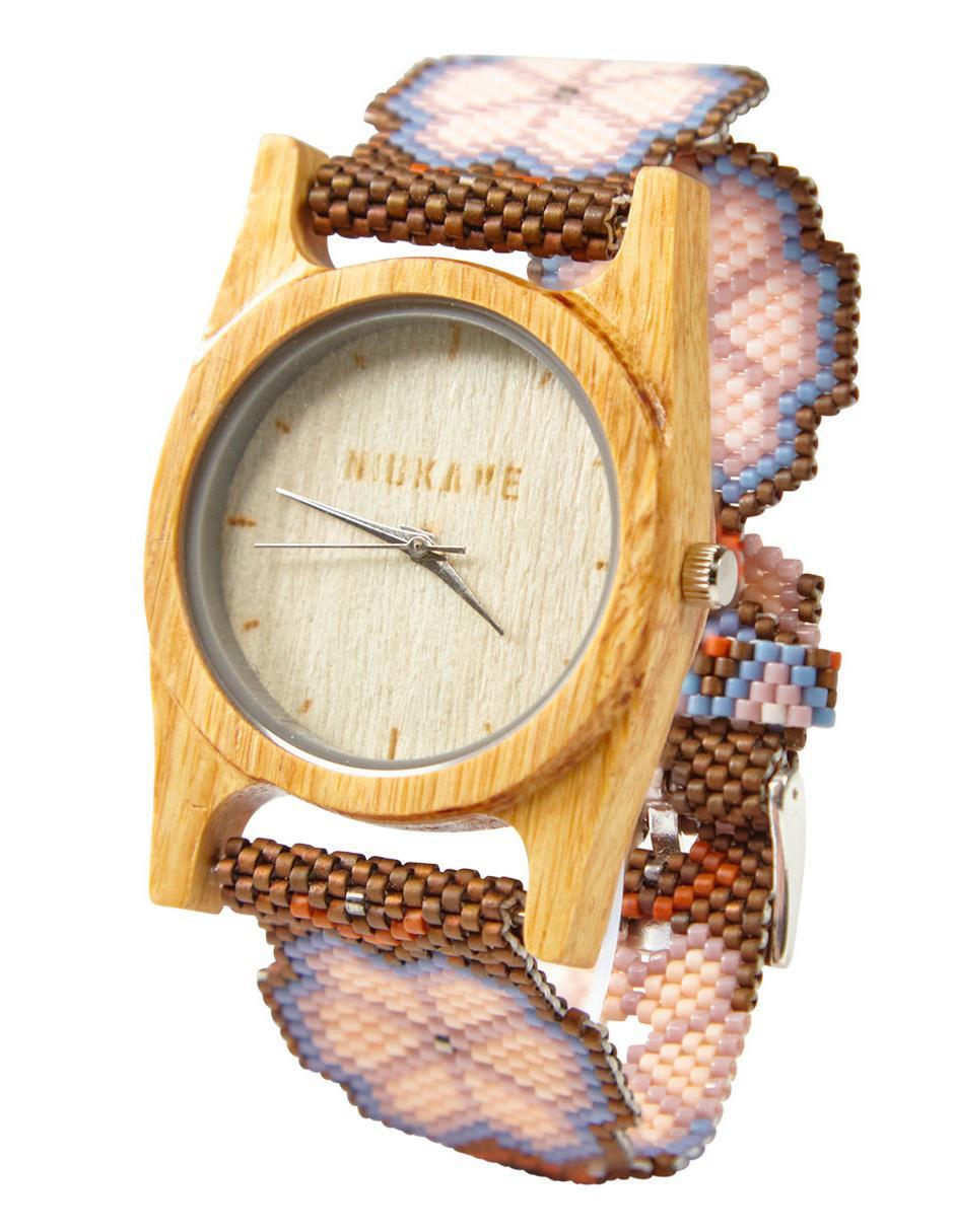 8179fa03e202 Reloj para dama Venado Negro Niukame Tuuturi lila bambú