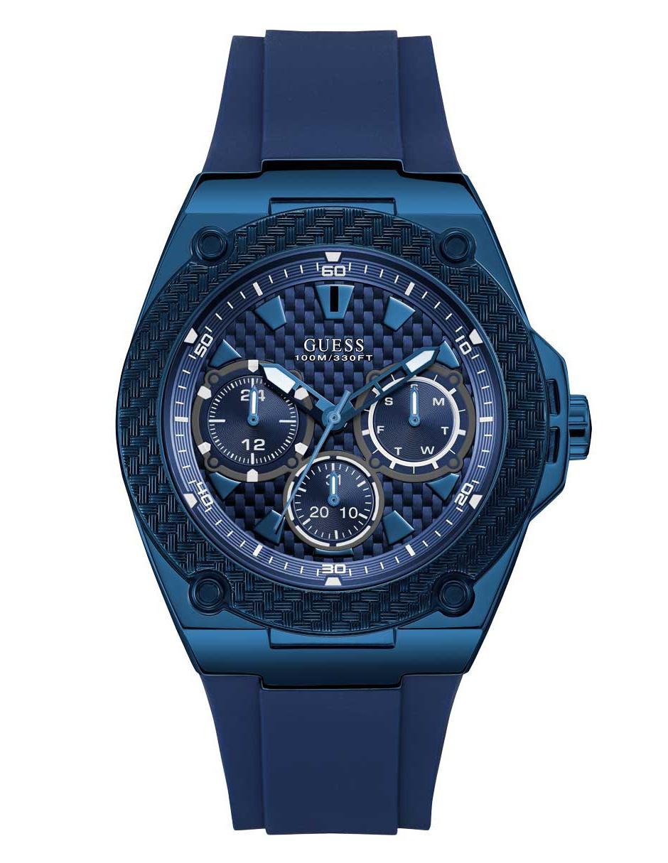 Caballero Mens Azul Reloj Para Blue W1049g7 Guess iuwPkXTOZ