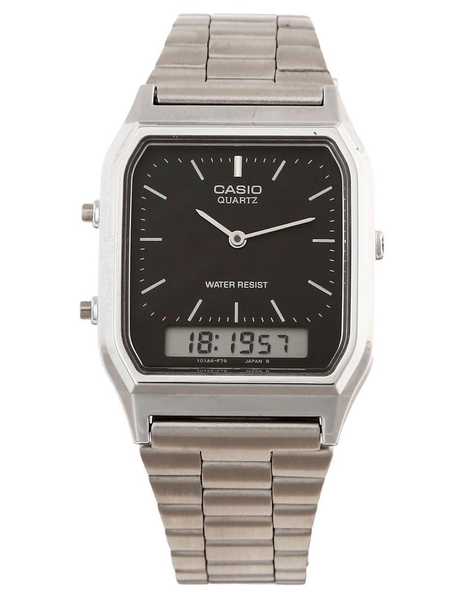 82ace8cbd058 Reloj unisex Casio Vintage AQ-230A-1DMVT Precio Sugerido