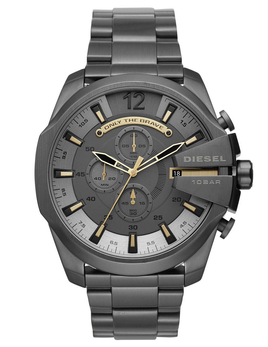 3e806064f431 Reloj para caballero Diesel Mega Chief DZ4466 grafito