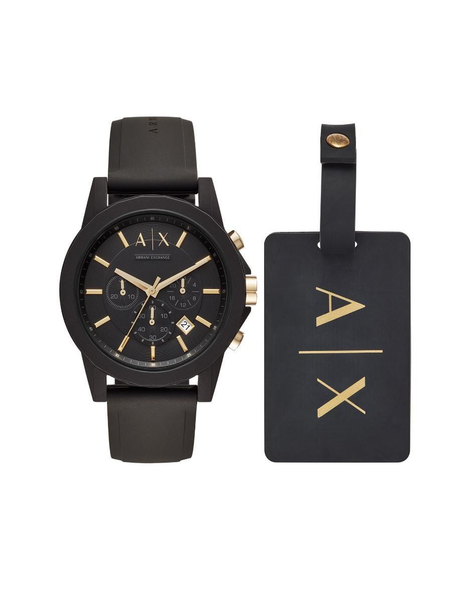 a7ba82777fbf Box set de reloj para caballero A X AX7105 negro