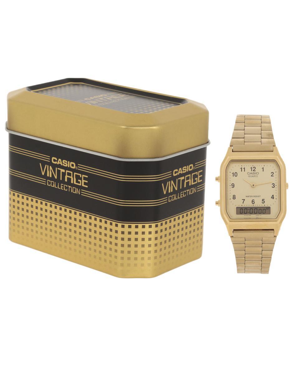 f24bf3256df3 Reloj para caballero Casio Vintage AQ-230GA-9BVT Precio Sugerido