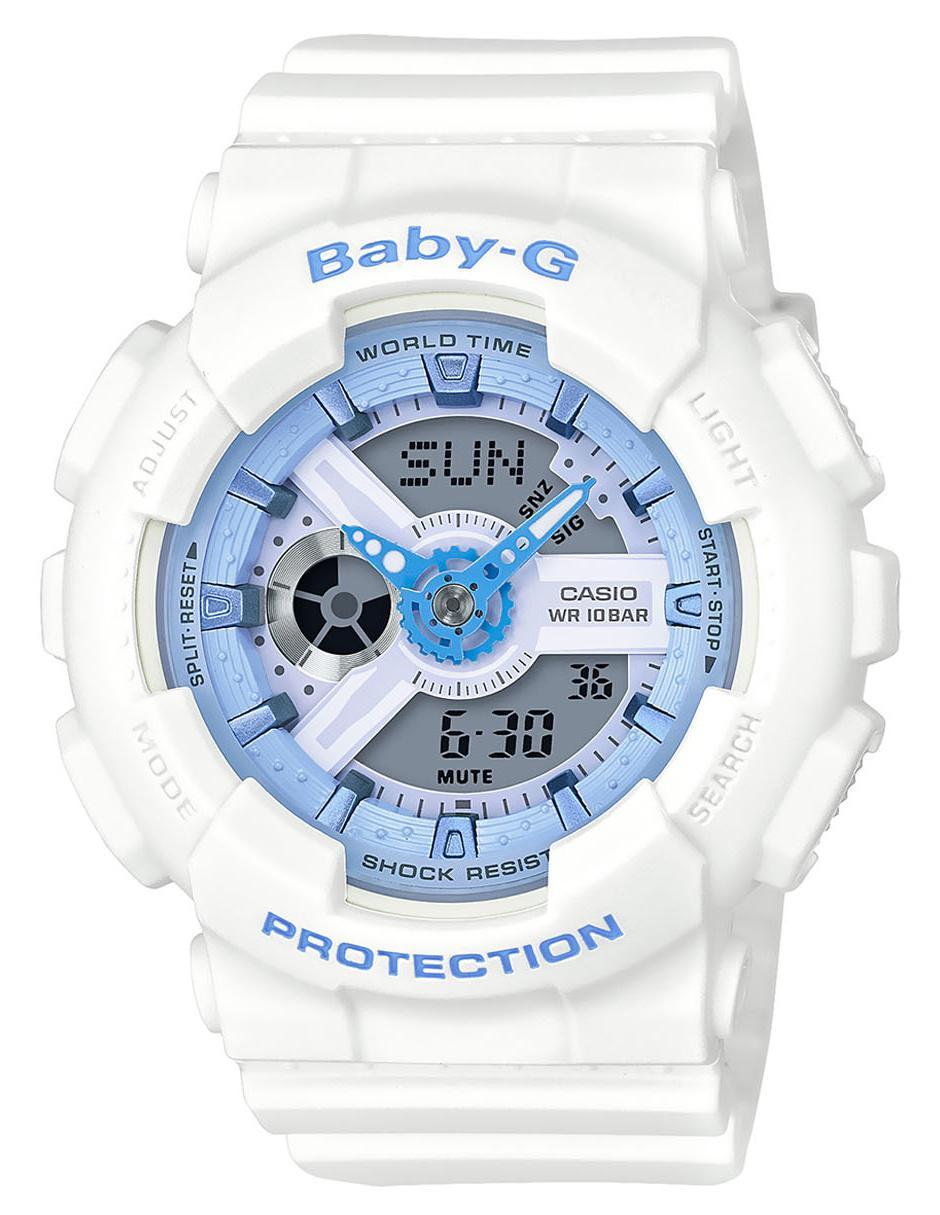 4f05eb8995d0 Reloj para dama Casio Baby-G BA-110BE-7ACR blanco