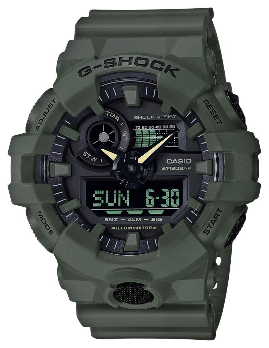 03c6d0e7eb90 Reloj para caballero Casio G-Shock GA-700UC-3ACR verde militar