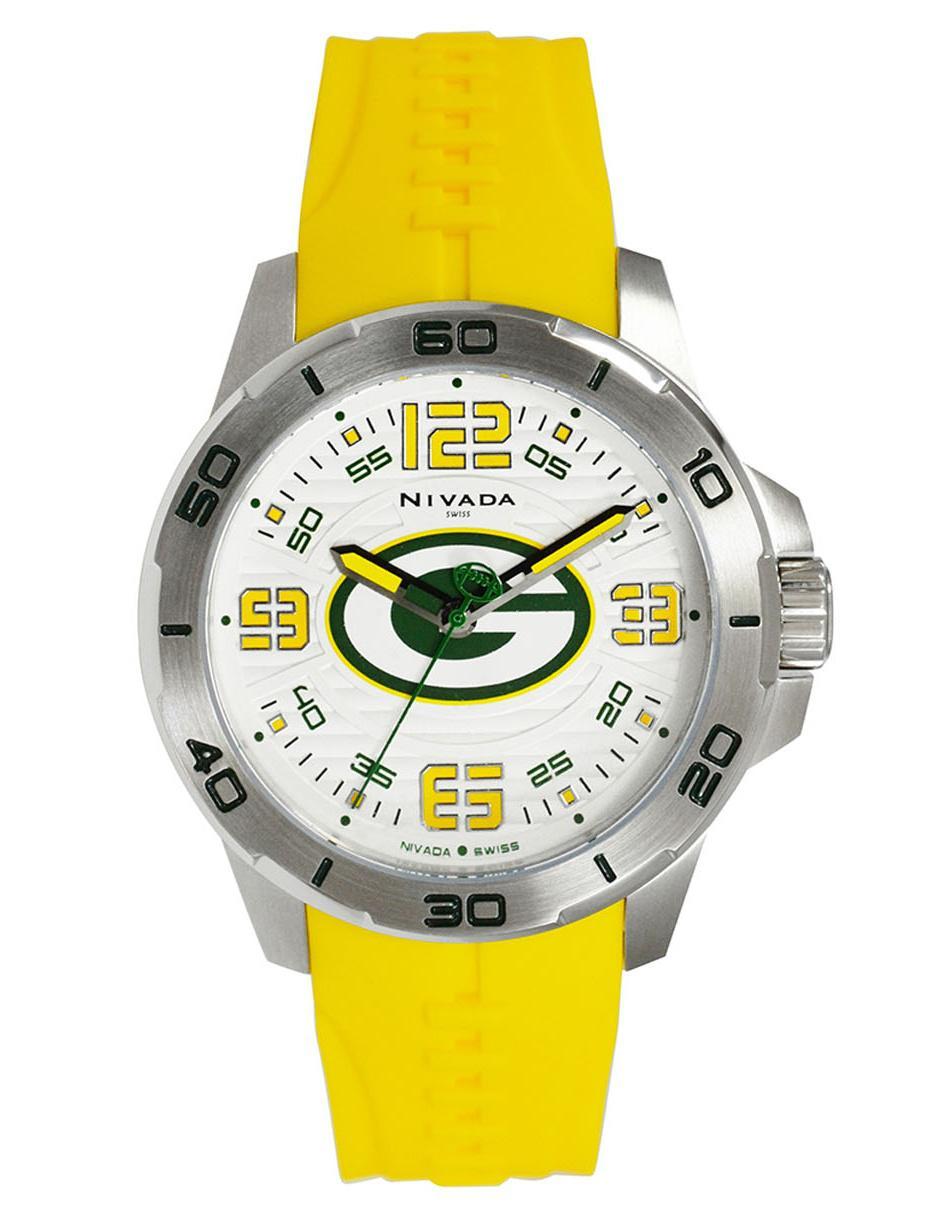 6ebb6834e506 Reloj para caballero Nivada Green Bay NP17394GB amarillo