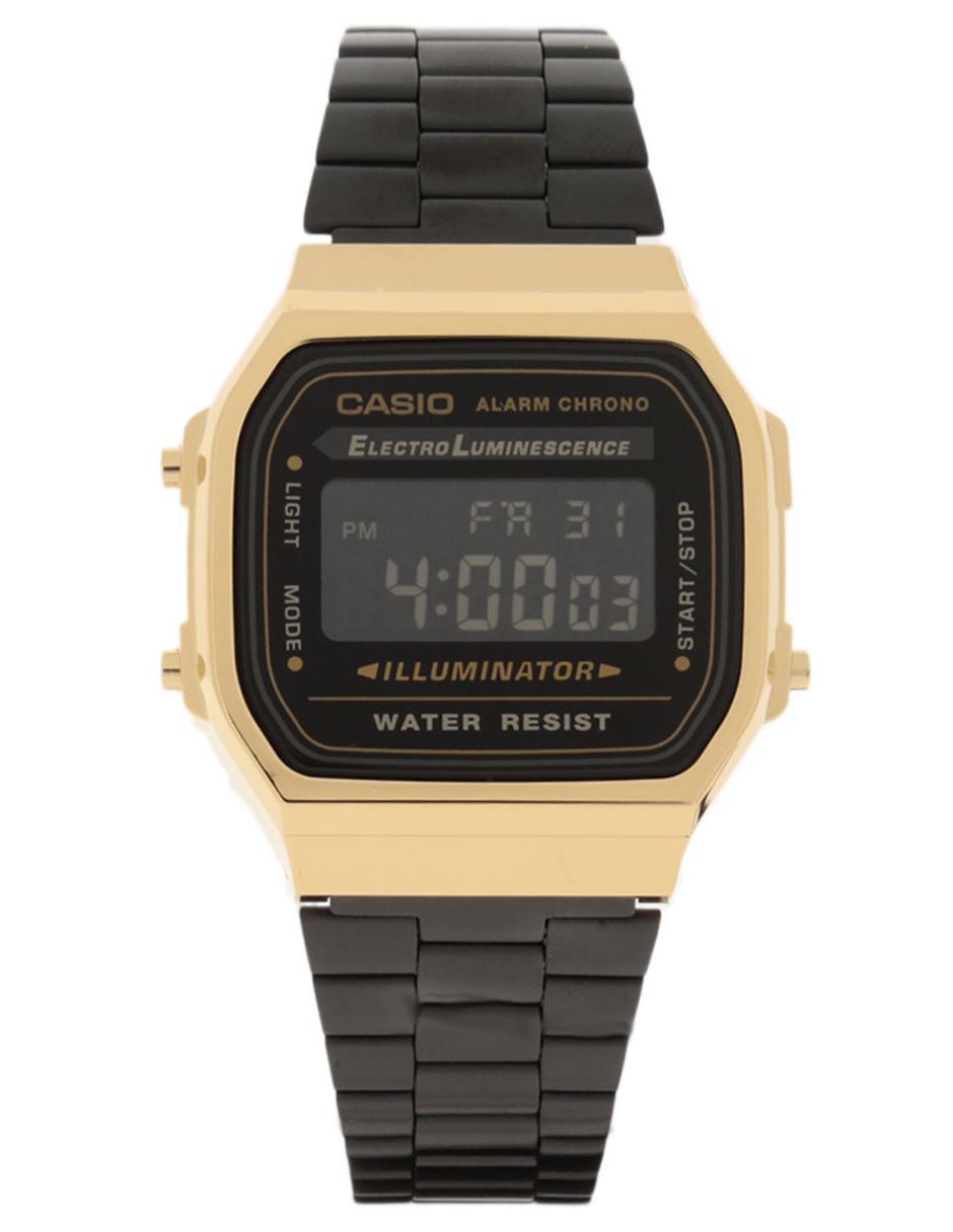 15834b1bbbc6 Reloj unisex Casio Vintage A168WEGB-1BVT negro Precio Sugerido