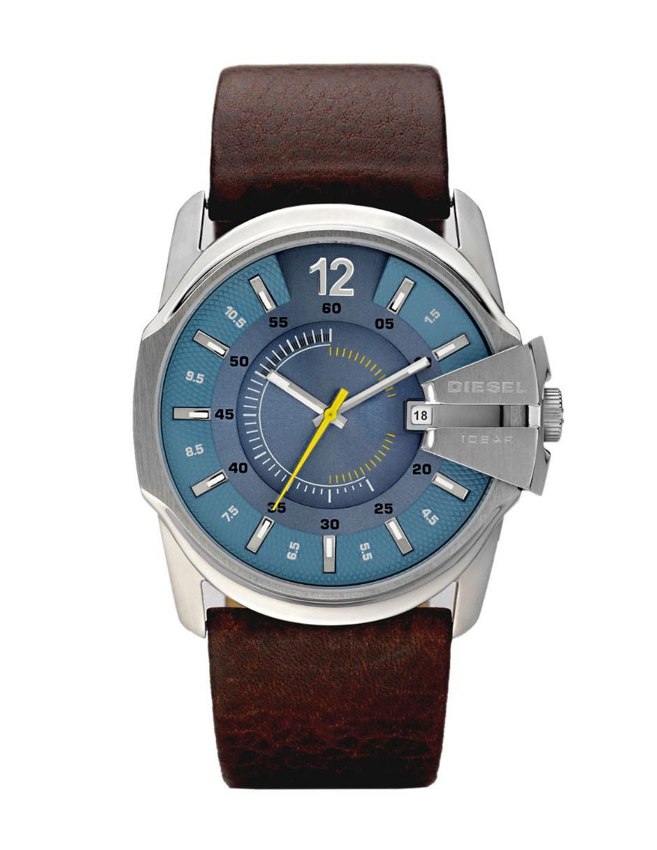 796c89f00610 Diesel Master Chief DZ1399 Reloj para Caballero Color Café